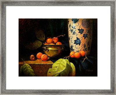 Persimmons Framed Print by Timothy Jones