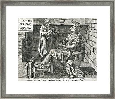 Personification Of Dialectics, 16th Framed Print by Folger Shakespeare Library