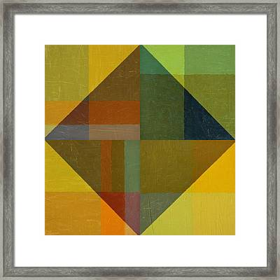 Perspective In Color Collage 8 Framed Print by Michelle Calkins