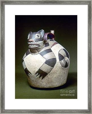 Peru: Nazca Whistling Jar Framed Print by Granger