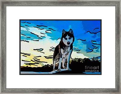 Pet Gone Wild Framed Print by Omaste Witkowski