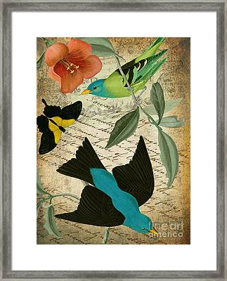 Petals And Wings V Framed Print by Mindy Sommers