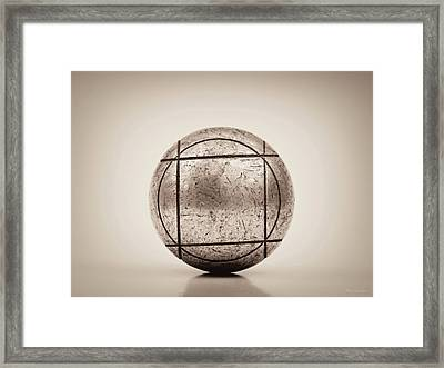 Petanque Ball Framed Print by Wim Lanclus