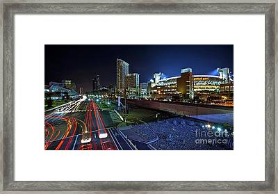 Petco Park And Downtown San Diego Framed Print by Sam Antonio Photography