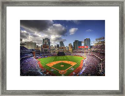 Petco Park Opening Day Framed Print by Shawn Everhart