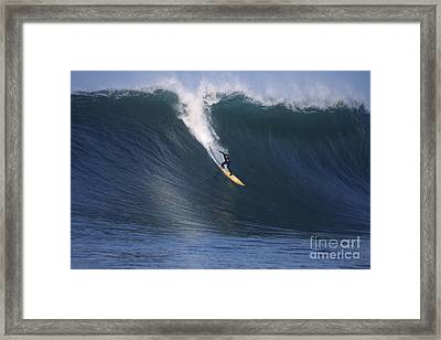 Pete On A Glassy Wall Framed Print by Stan and Anne Foster