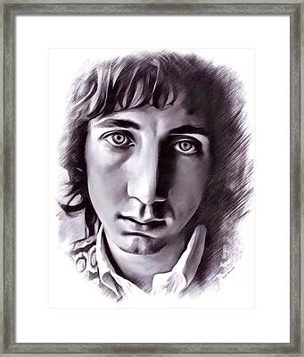 Pete Townshend Portrait Framed Print by Scott Wallace