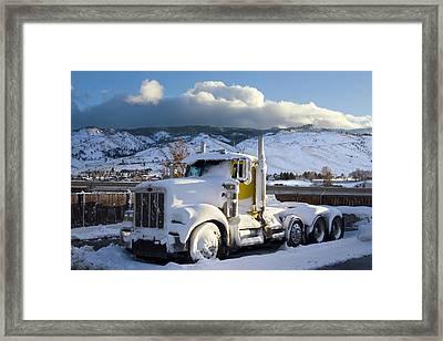 Peterbilt Framed Print by Daniel Furon