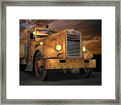 Peterbilt Ol Yeller Framed Print by Stuart Swartz