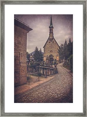 Petersfriedhof Salzburg  Framed Print by Carol Japp