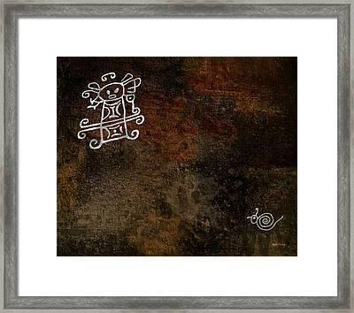 Petroglyph 8 Framed Print by Bibi Romer