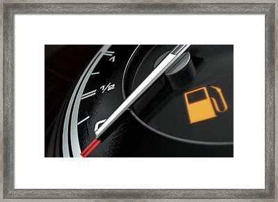 Petrol Gage Empty Framed Print by Allan Swart