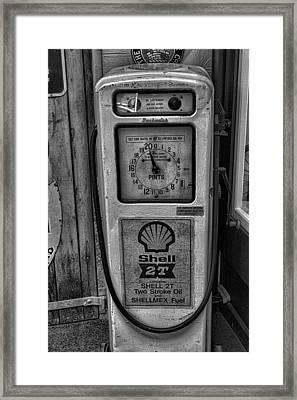 Petrol Pump Framed Print by Martin Newman