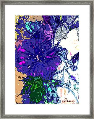 Petunia Blue Framed Print by Mindy Newman