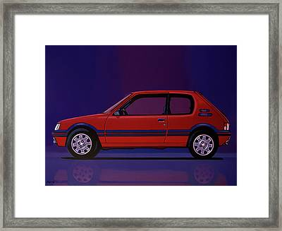Peugeot 205 Gti 1984 Painting Framed Print by Paul Meijering