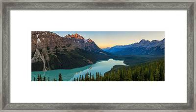 Peyto Lake Panorama Framed Print by Tomas Nevesely