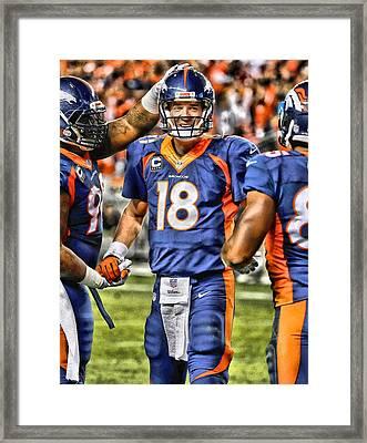 Peyton Manning Art 3 Framed Print by Joe Hamilton