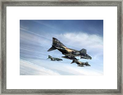 Phantom Strike Force Framed Print by Peter Chilelli