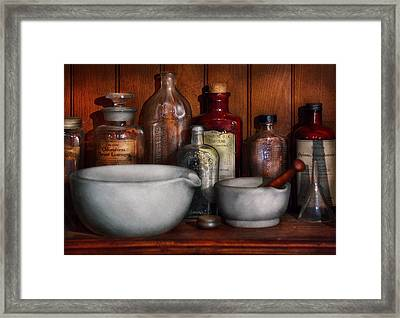 Pharmacist - Medicine For Coughing Framed Print by Mike Savad