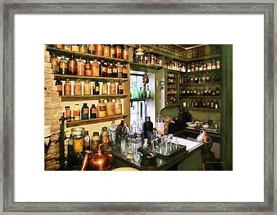 Pharmacist - Pharmacists Drugs Framed Print by Mike Savad