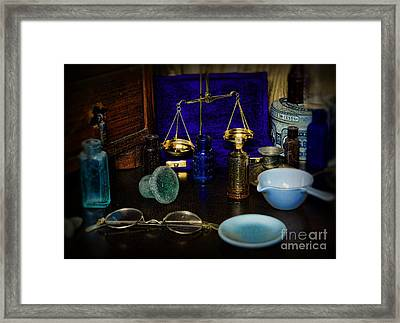 Pharmacist - Scale And Measure Framed Print by Paul Ward