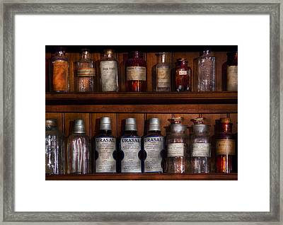 Pharmacy - Bonafide Cures Framed Print by Mike Savad