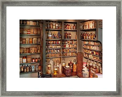 Pharmacy - Get Me That Bottle On The Second Shelf Framed Print by Mike Savad