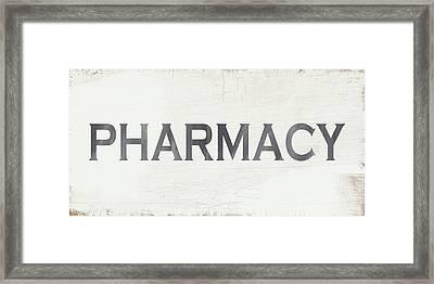 Pharmacy Sign- Art By Linda Woods Framed Print by Linda Woods