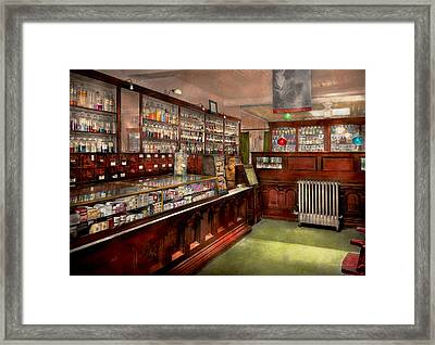 Pharmacy - We Have The Solution 1934 Framed Print by Mike Savad