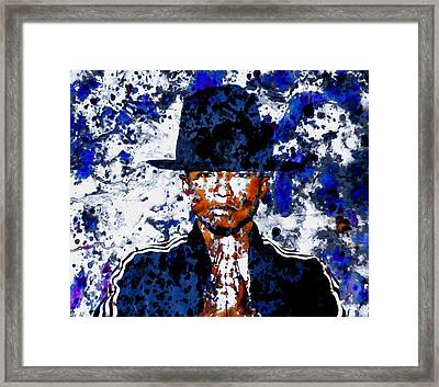 Pharrell Williams 3c Framed Print by Brian Reaves