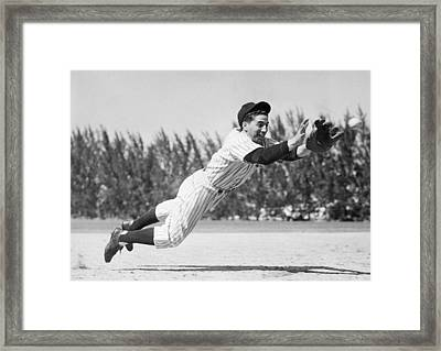 Phil Rizzuto, As A Rookie Infielder Framed Print by Everett