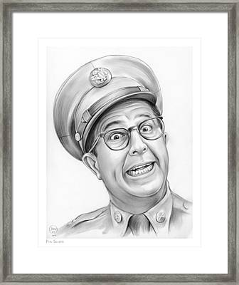 Phil Silvers Framed Print by Greg Joens