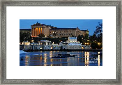 Philadelphia Art Museum And Fairmount Water Works Framed Print by Gary Whitton