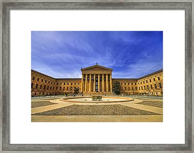 Philadelphia Art Museum Framed Print by Evelina Kremsdorf