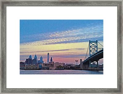 Philadelphia At Dawn Framed Print by Bill Cannon