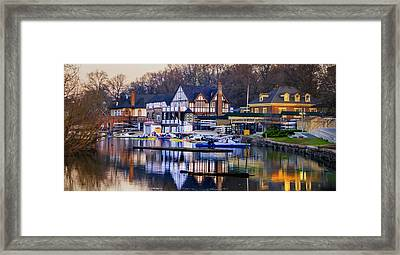 Philadelphia - Boathouse Row On The Schuylkill River Framed Print by Bill Cannon