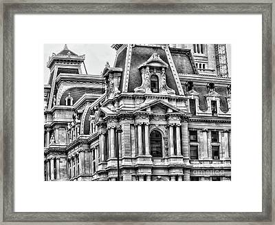 Philadelphia City  Hall Framed Print by Chuck Kuhn