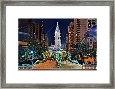Philadelphia City Hall Framed Print by Frozen in Time Fine Art Photography