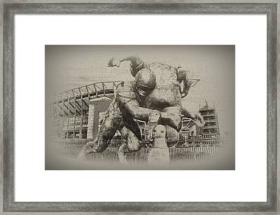 Philadelphia Eagles At The Linc Framed Print by Bill Cannon