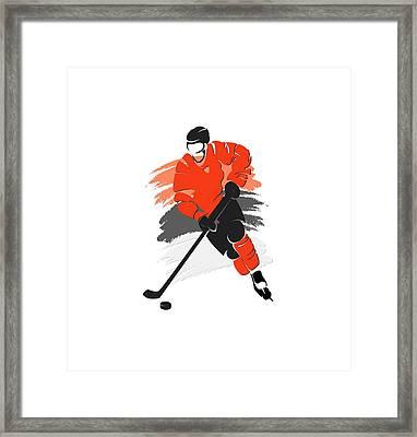 Philadelphia Flyers Player Shirt Framed Print by Joe Hamilton