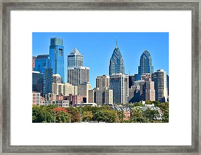Philadelphia In Tight Framed Print by Frozen in Time Fine Art Photography