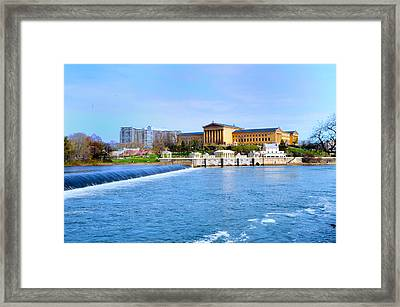 Philadelphia Museum Of Art And The Philadelphia Waterworks Framed Print by Bill Cannon