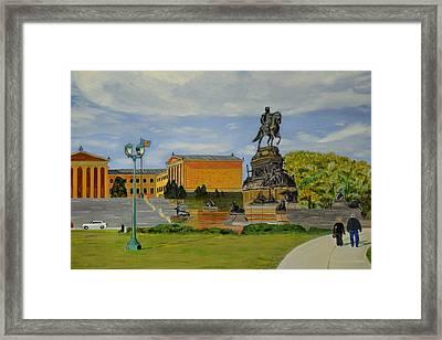 Philadelphia Museum Of Art Framed Print by Michael Walsh