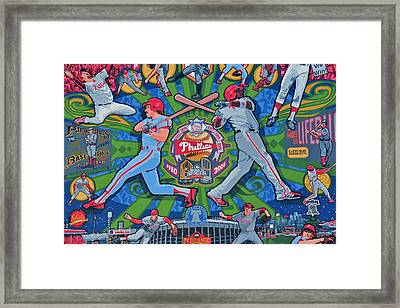 Philadelphia Phillies Framed Print by Frozen in Time Fine Art Photography