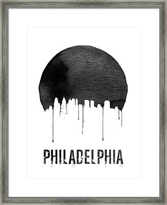 Philadelphia Skyline White Framed Print by Naxart Studio