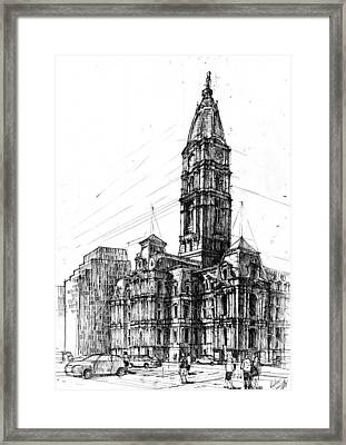 Philadelphia Town Hall Framed Print by Krystian  Wozniak