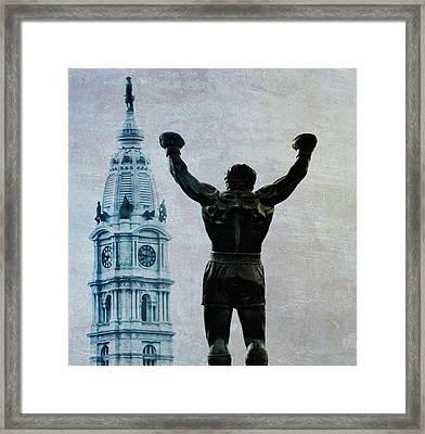 Philadelphias Champion - Rocky Balboa Framed Print by Bill Cannon