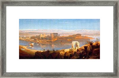 Philae In Nubia Framed Print by David Roberts