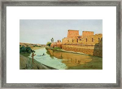 Philae On The Nile Framed Print by Alexander West