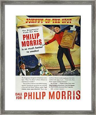 Philip Morris Cigarette Ad Framed Print by Granger